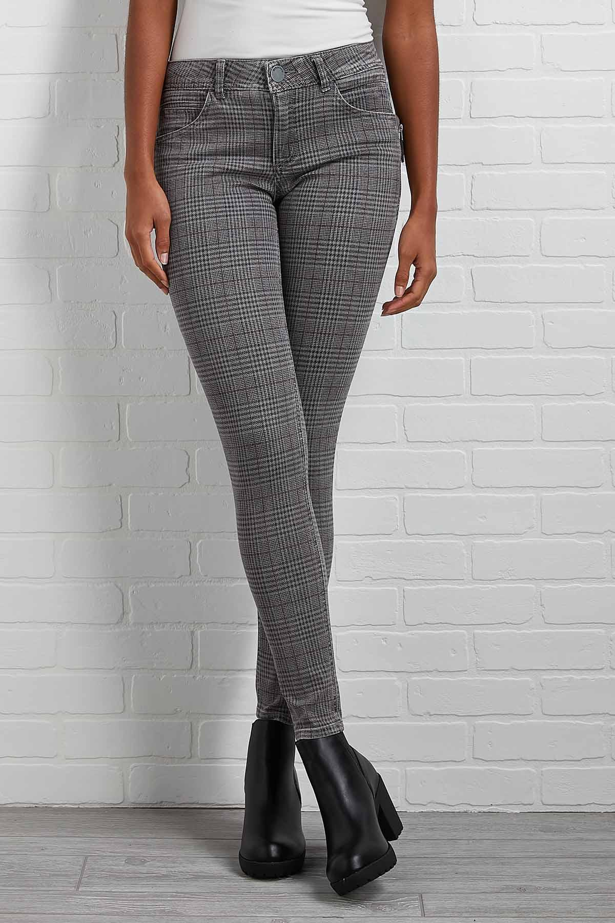 Plaid And Simple Jeggings