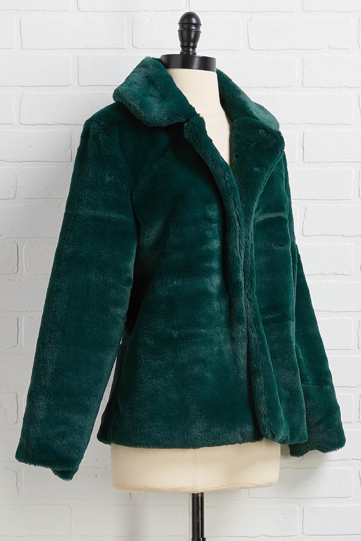 Not Fur Real Green Jacket