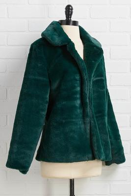 not fur real green jacket