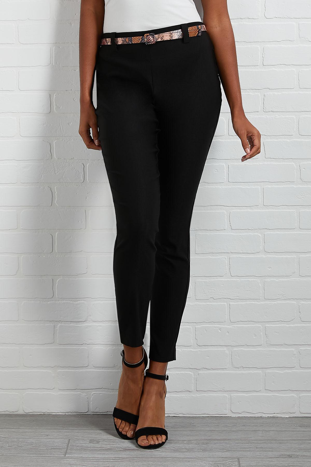 A Hint Of Print Black Pants