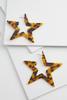 Tortoise Star Struck Earrings