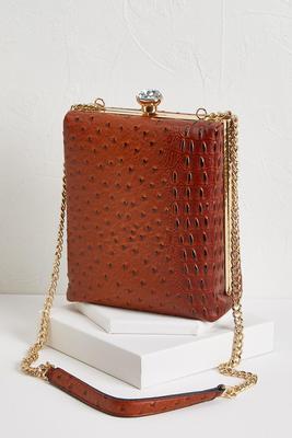 ostrich crossbody bag