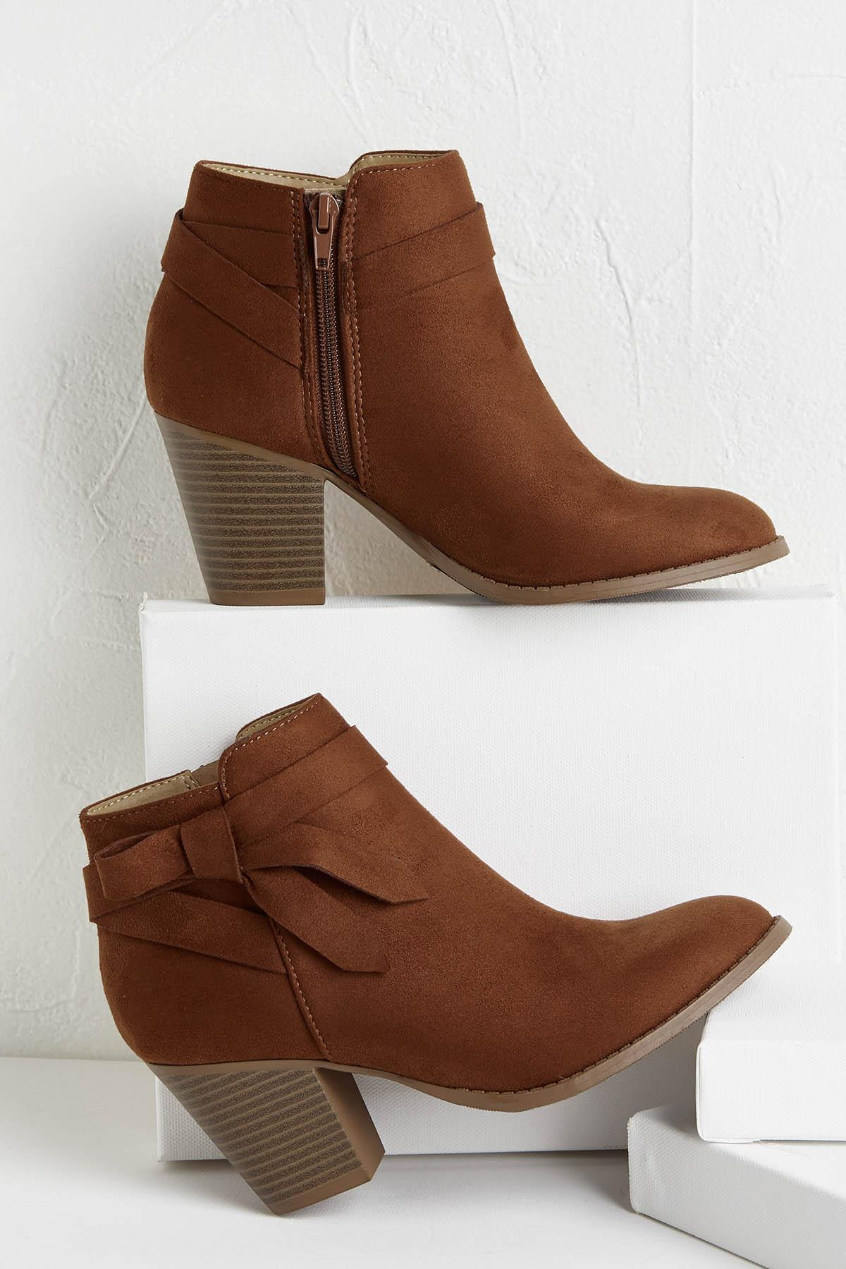 Side Tie Ankle Boots