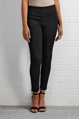 black shape enhancing jeans