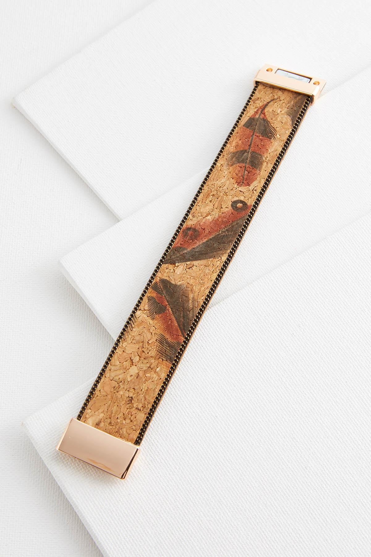 Feather Cork Bracelet