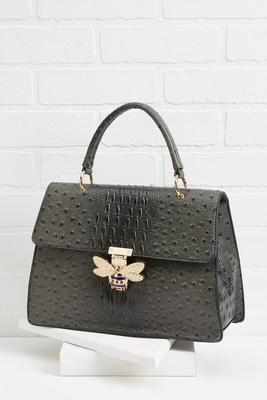 bee inspired ostrich satchel