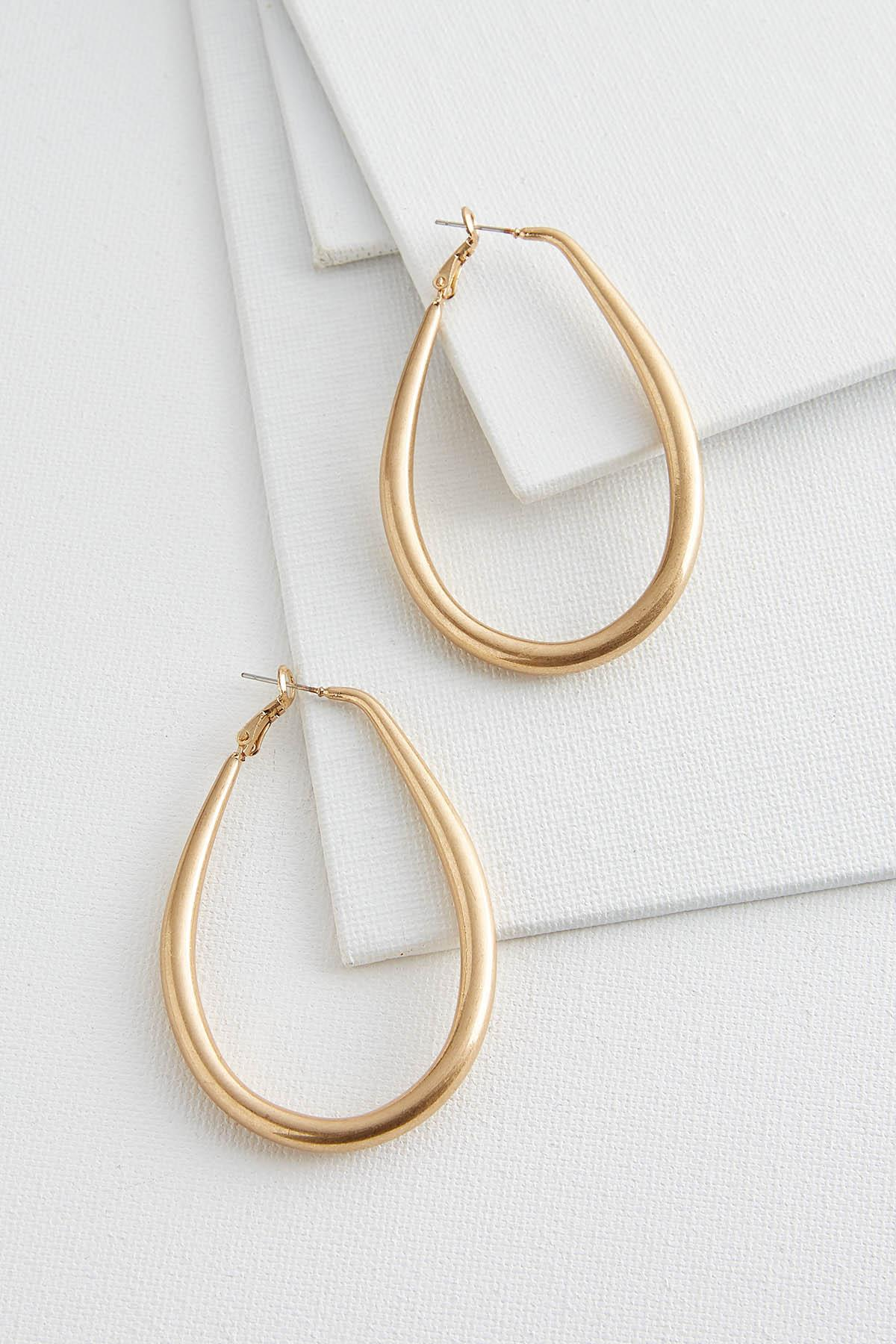 Tear Hoop Earrings