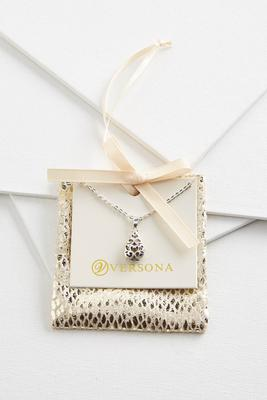 filigree tear necklace gift ornament