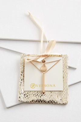 layered necklace gift ornament
