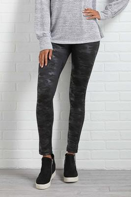 camo coated leggings