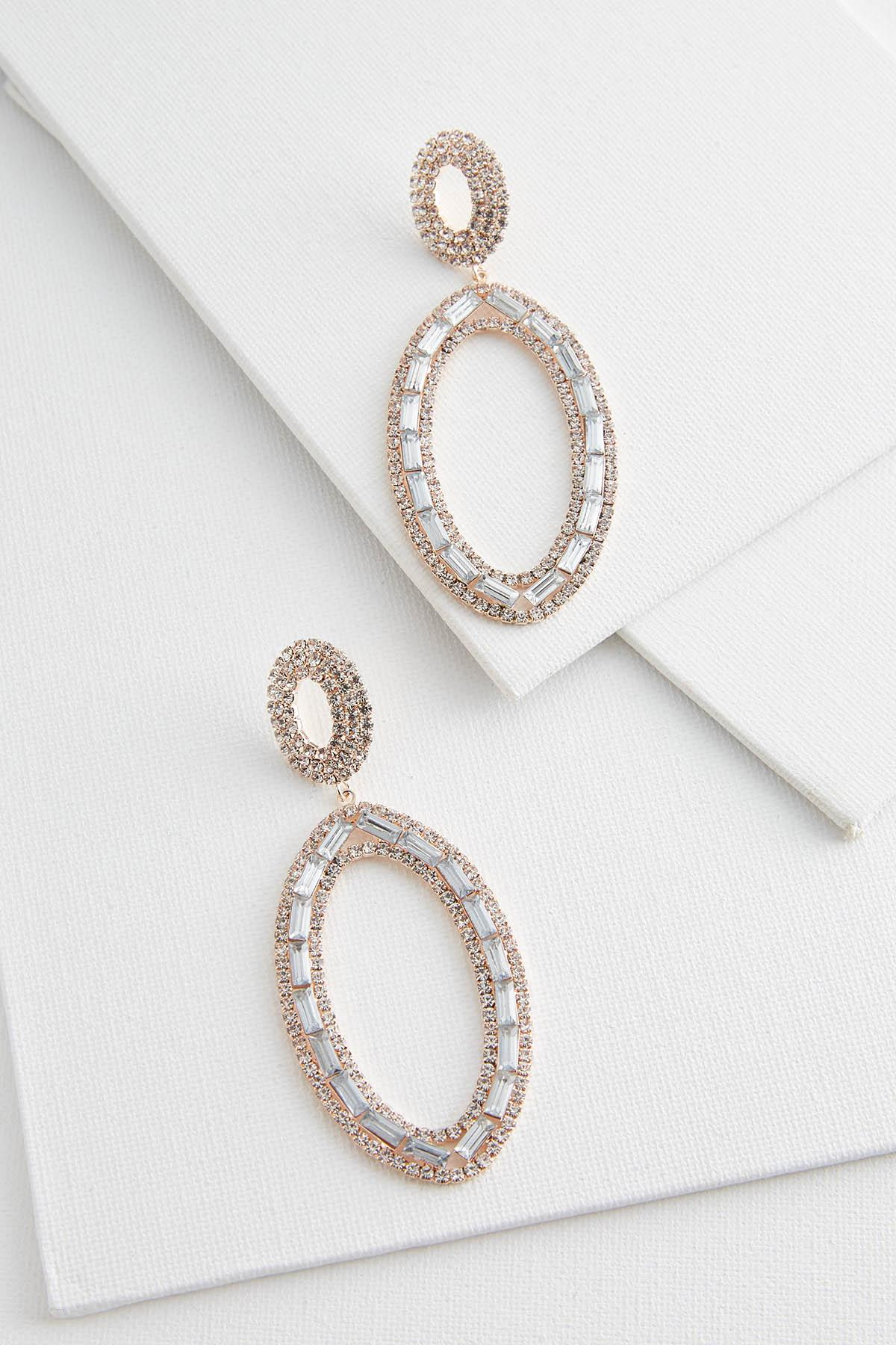 Oval Bling Earrings