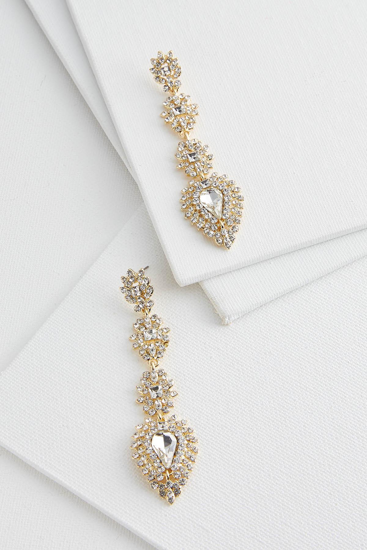 Glitz Stone Linear Earrings