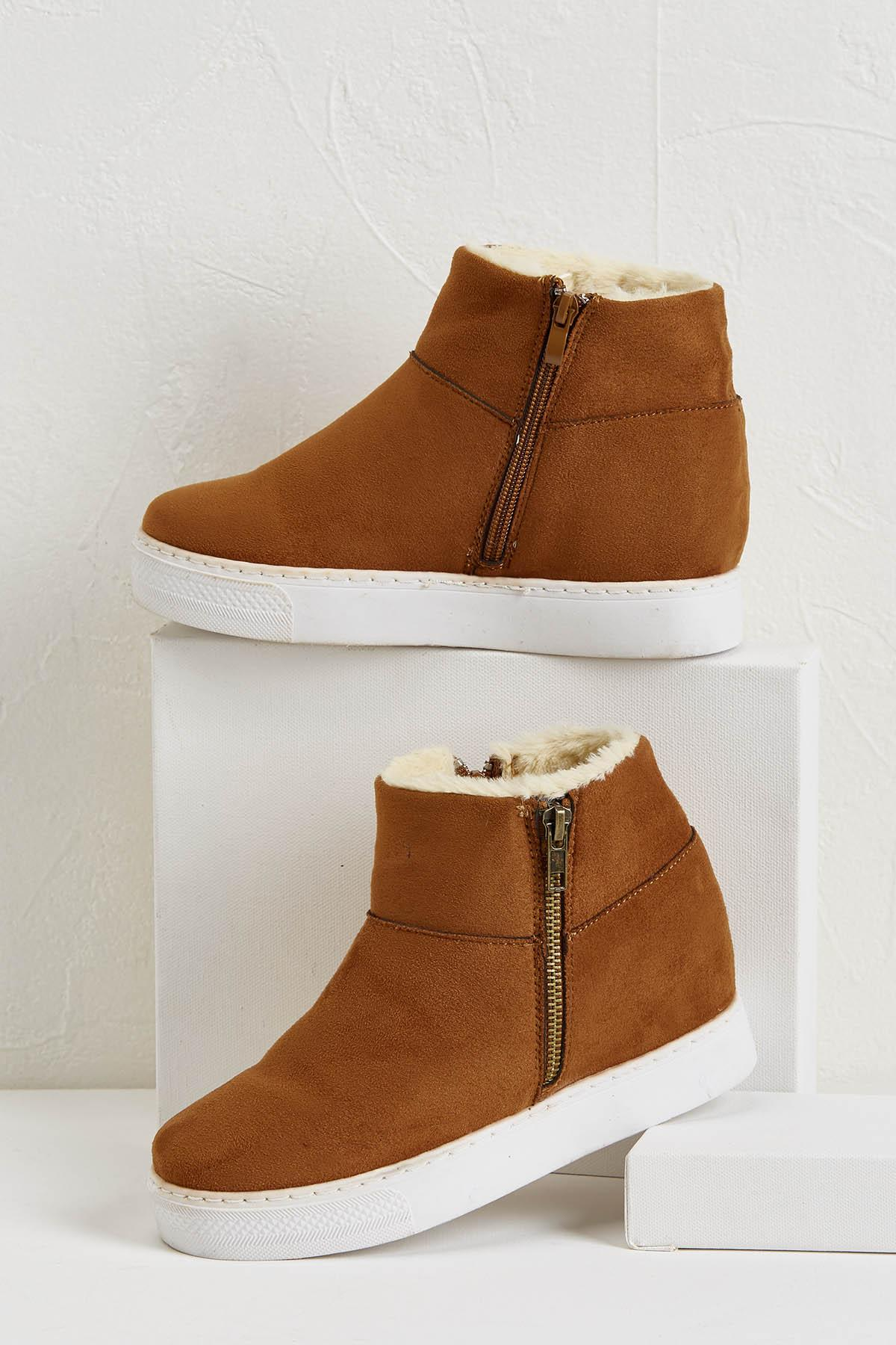 Shearling Lined Wedge Sneakers