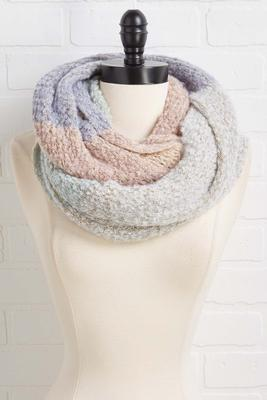 cozy colorblock scarf