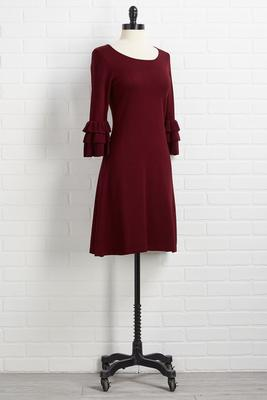 wine and tiers shift dress