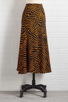 safari vacation midi skirt