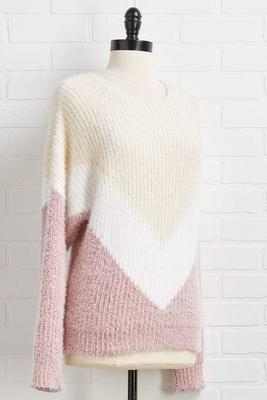 pop of pink sweater