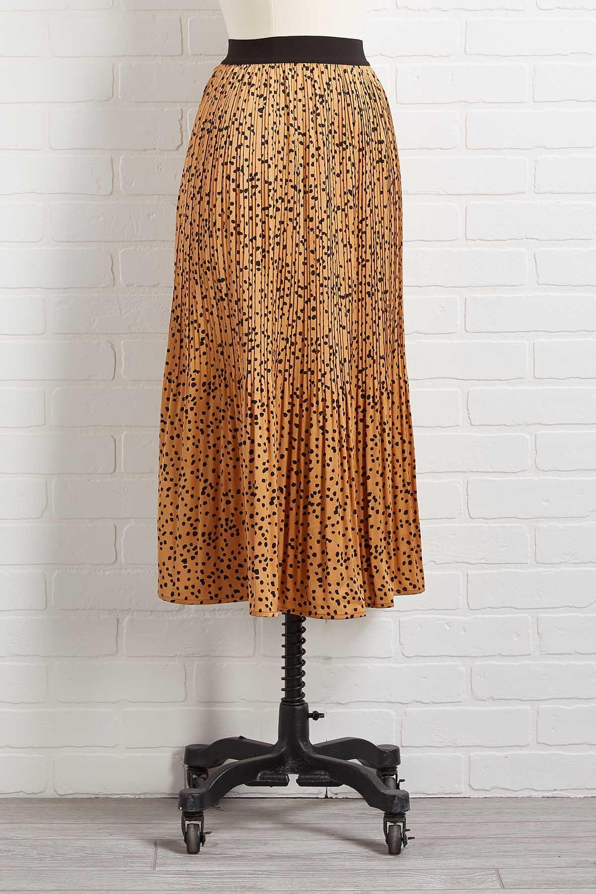 I Spot Pleats Skirt