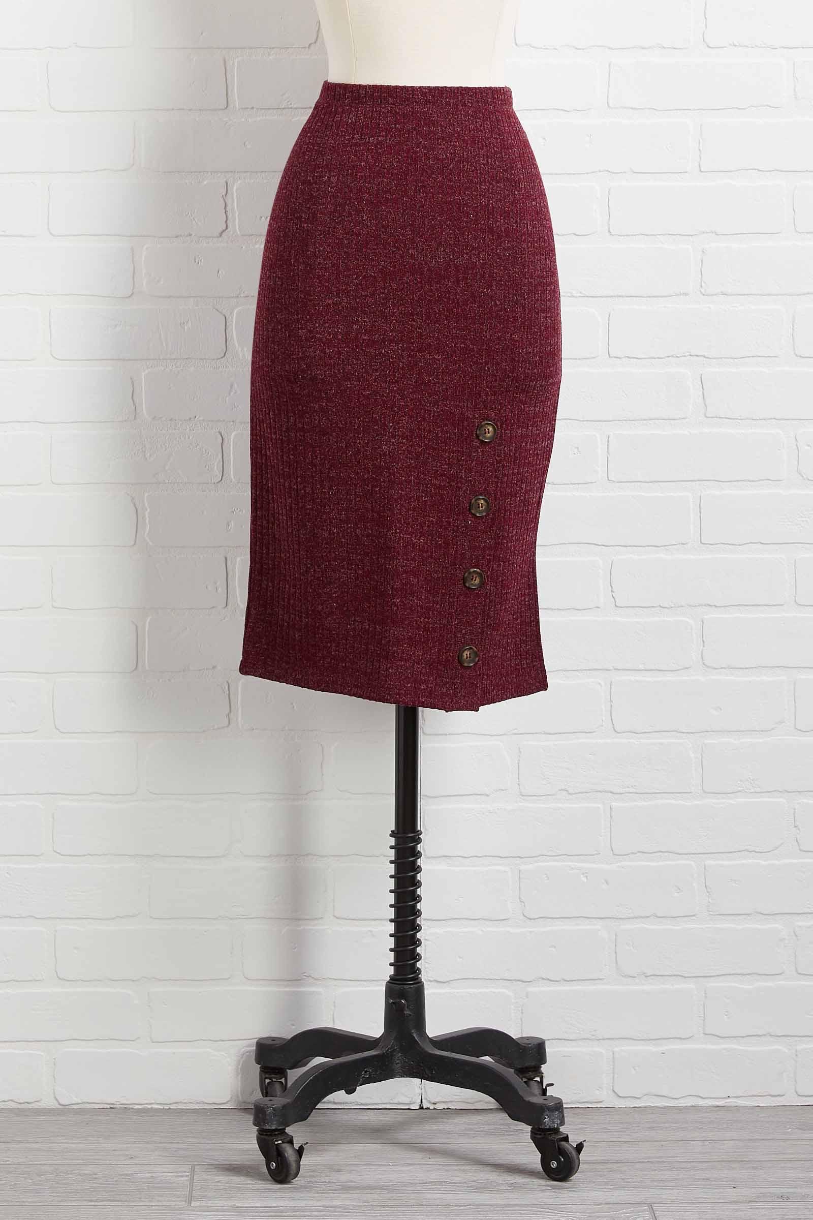Pencil Sweater Skirt