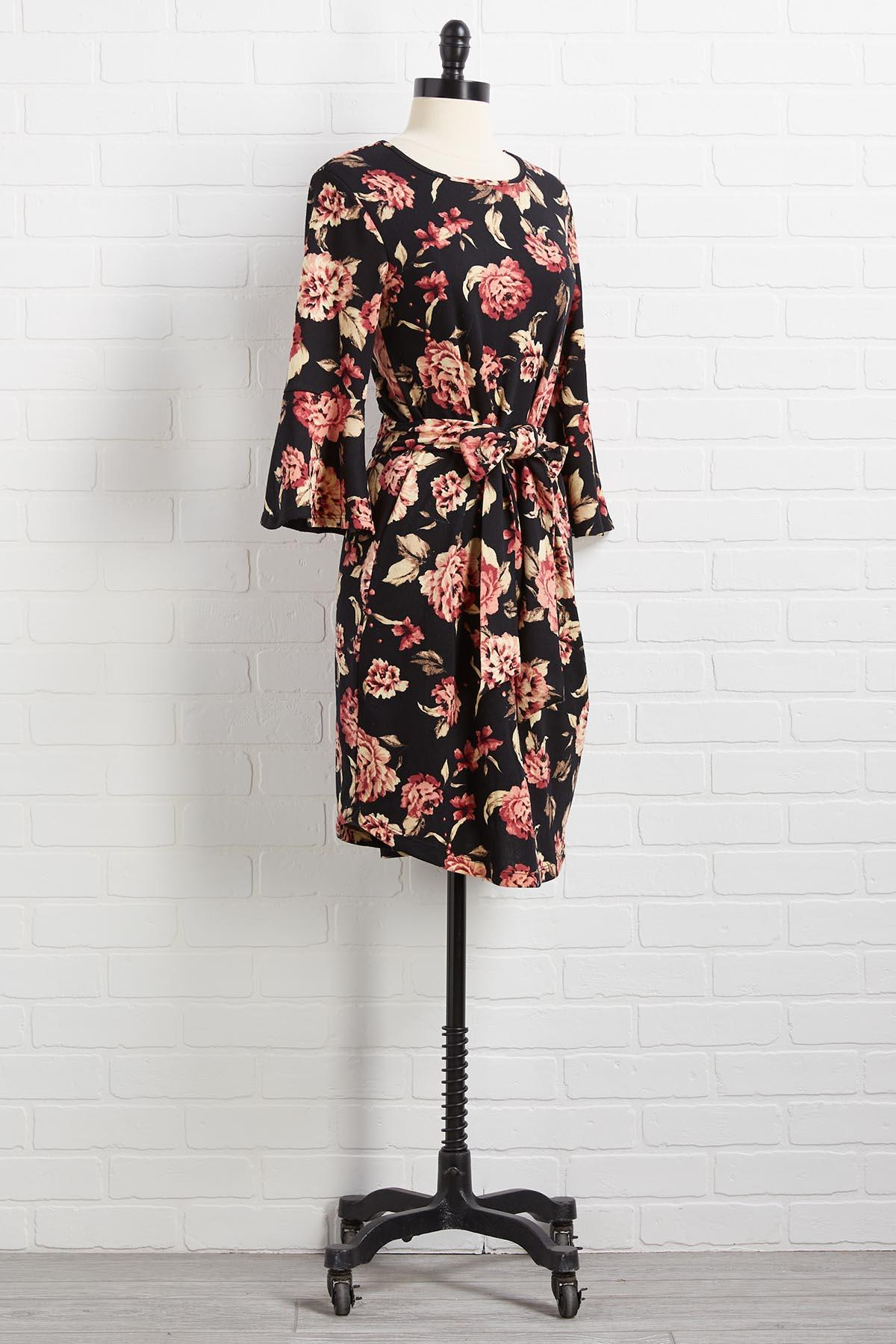 Truth Or Flare Sleeve Dress