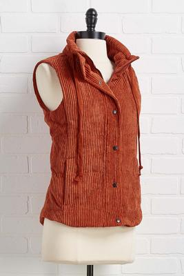 cute in corduroy puffer vest