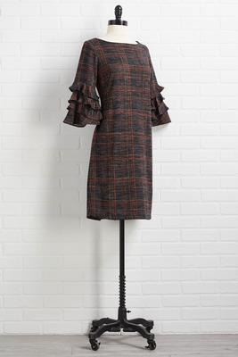 perfectly plaid shift dress