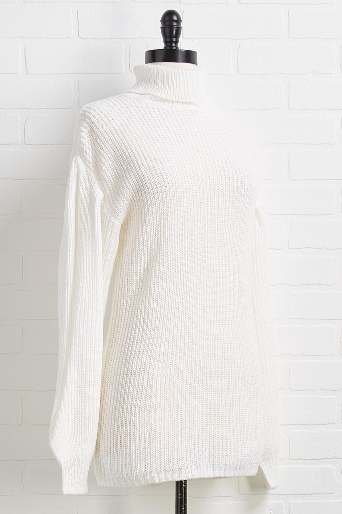 White On Time Sweater