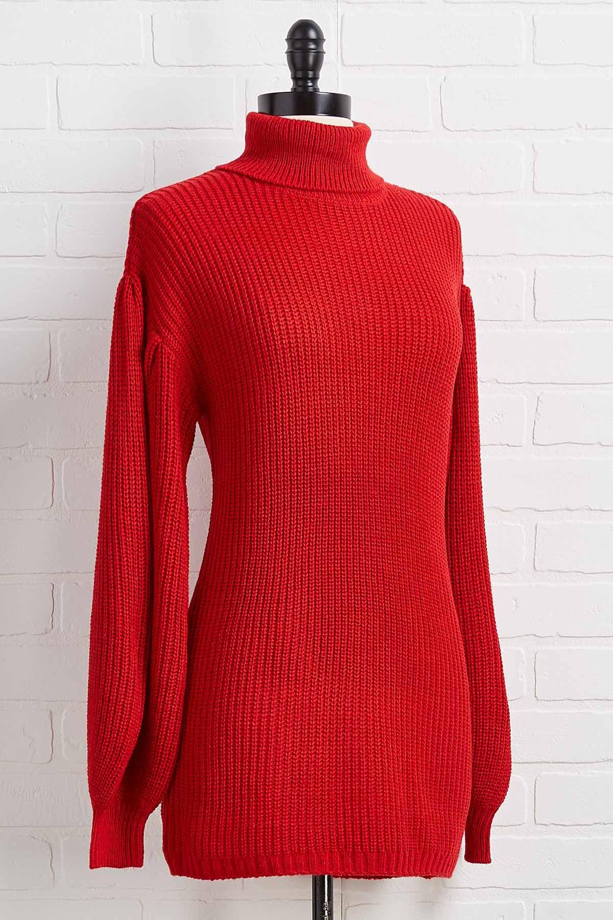 Cherry Cozy Turtleneck Sweater