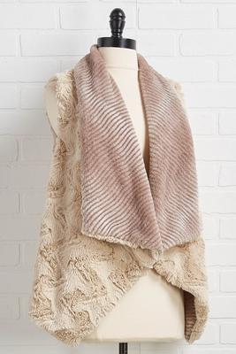 faux fur cozy vest