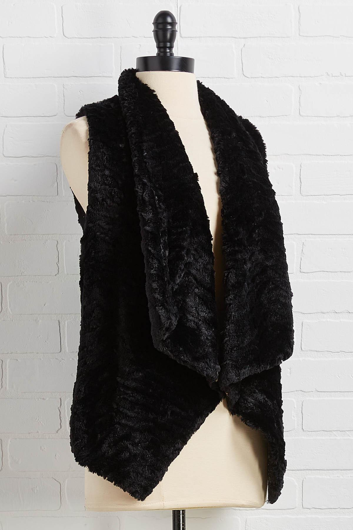 Going Faux Glam Vest