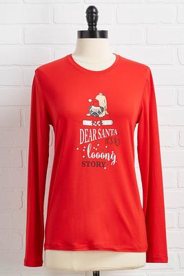 dear santa sleep top