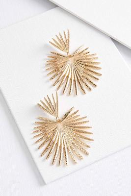 gold sunburst earrings