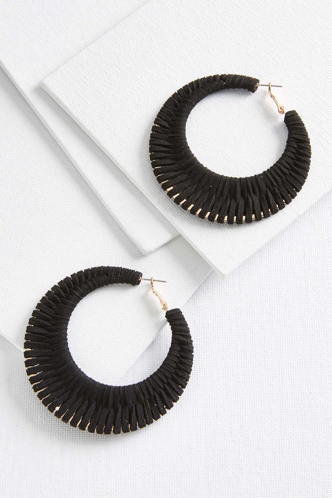 Suede Woven Earrings