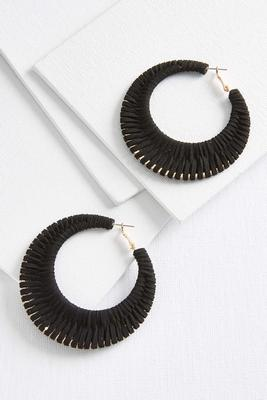 suede woven earrings