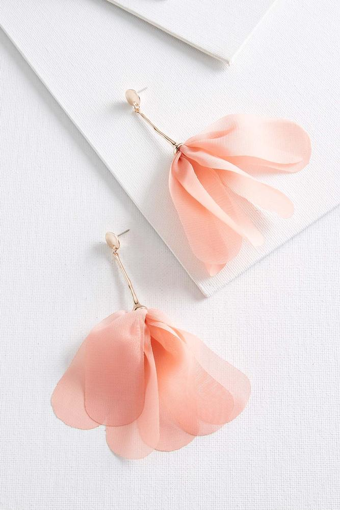 Fabric Petal Earrings