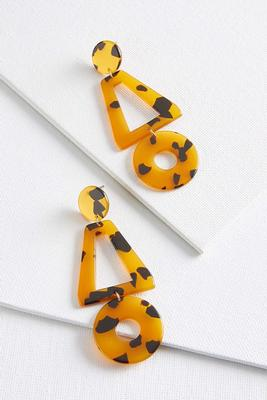 geometric tort earrings
