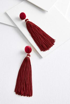 velvet tassel earrings