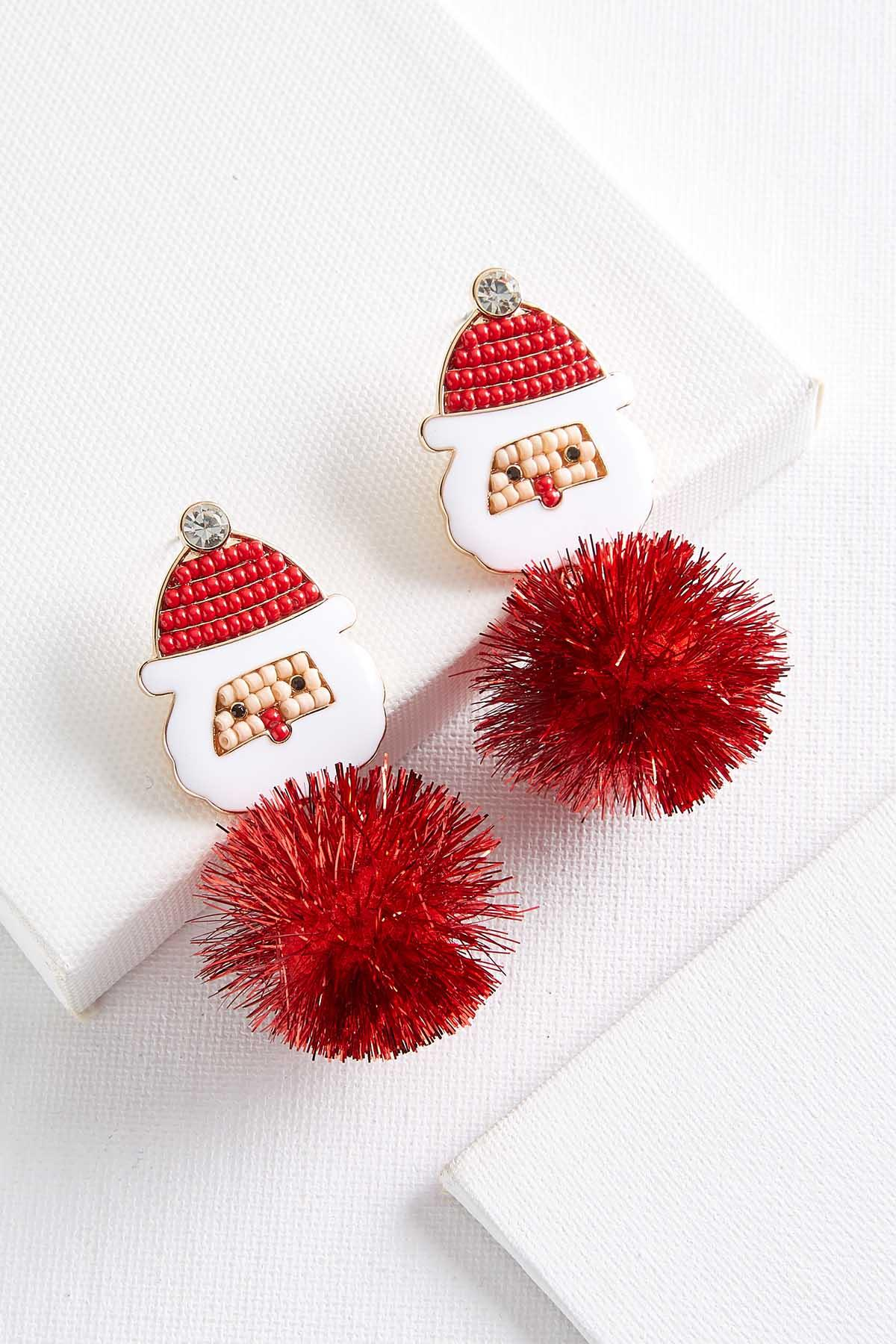 Santa Puff Earrings