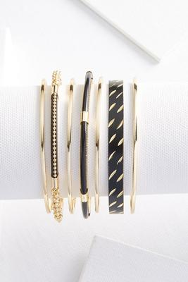 diamond cut bangle set
