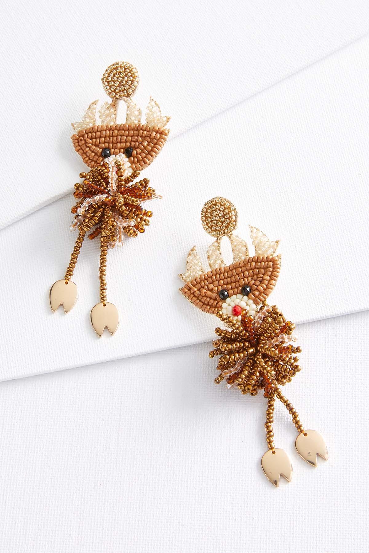 Reindeer Beaded Earrings