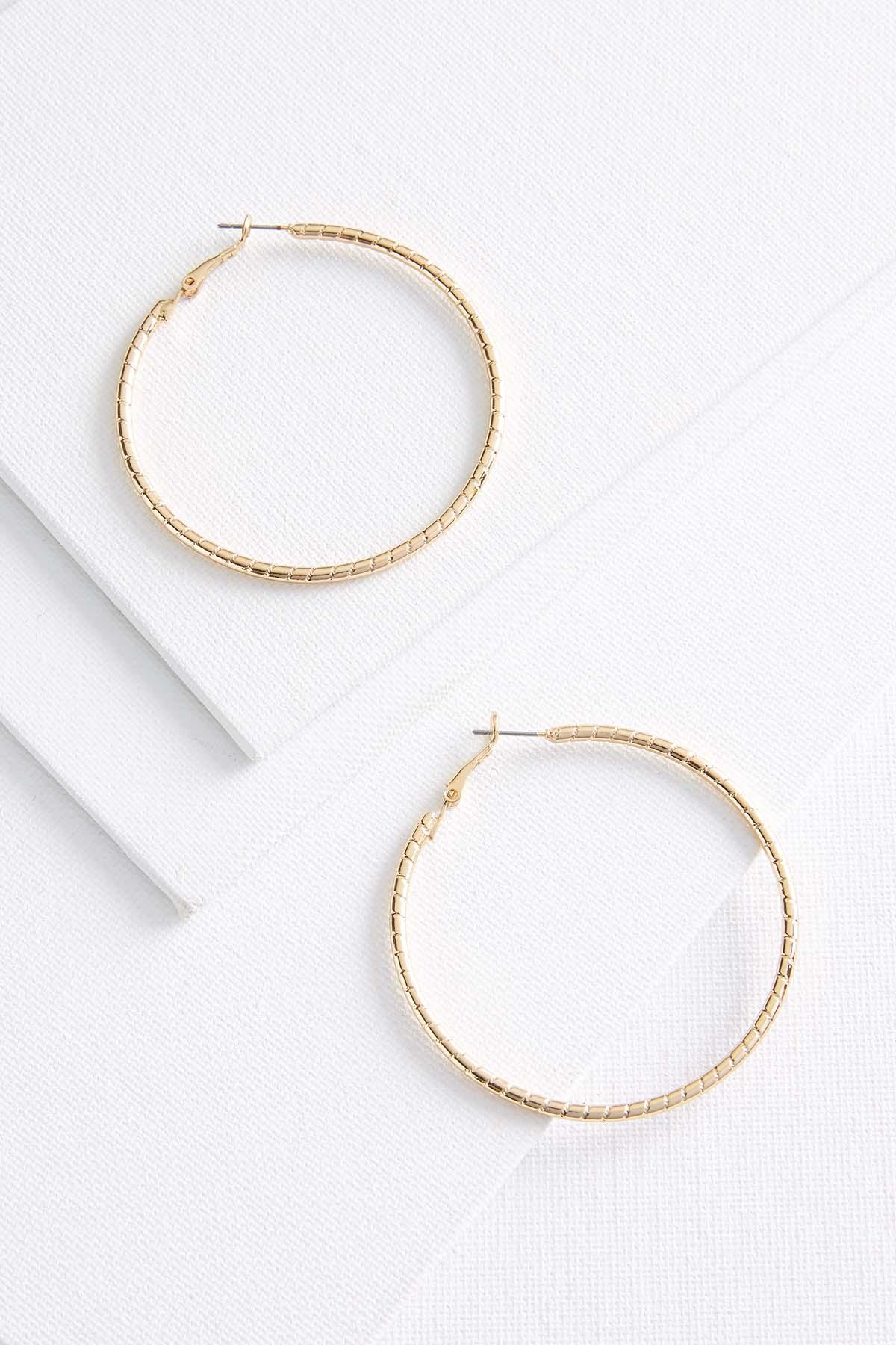 Ribbed Hoop Earrings