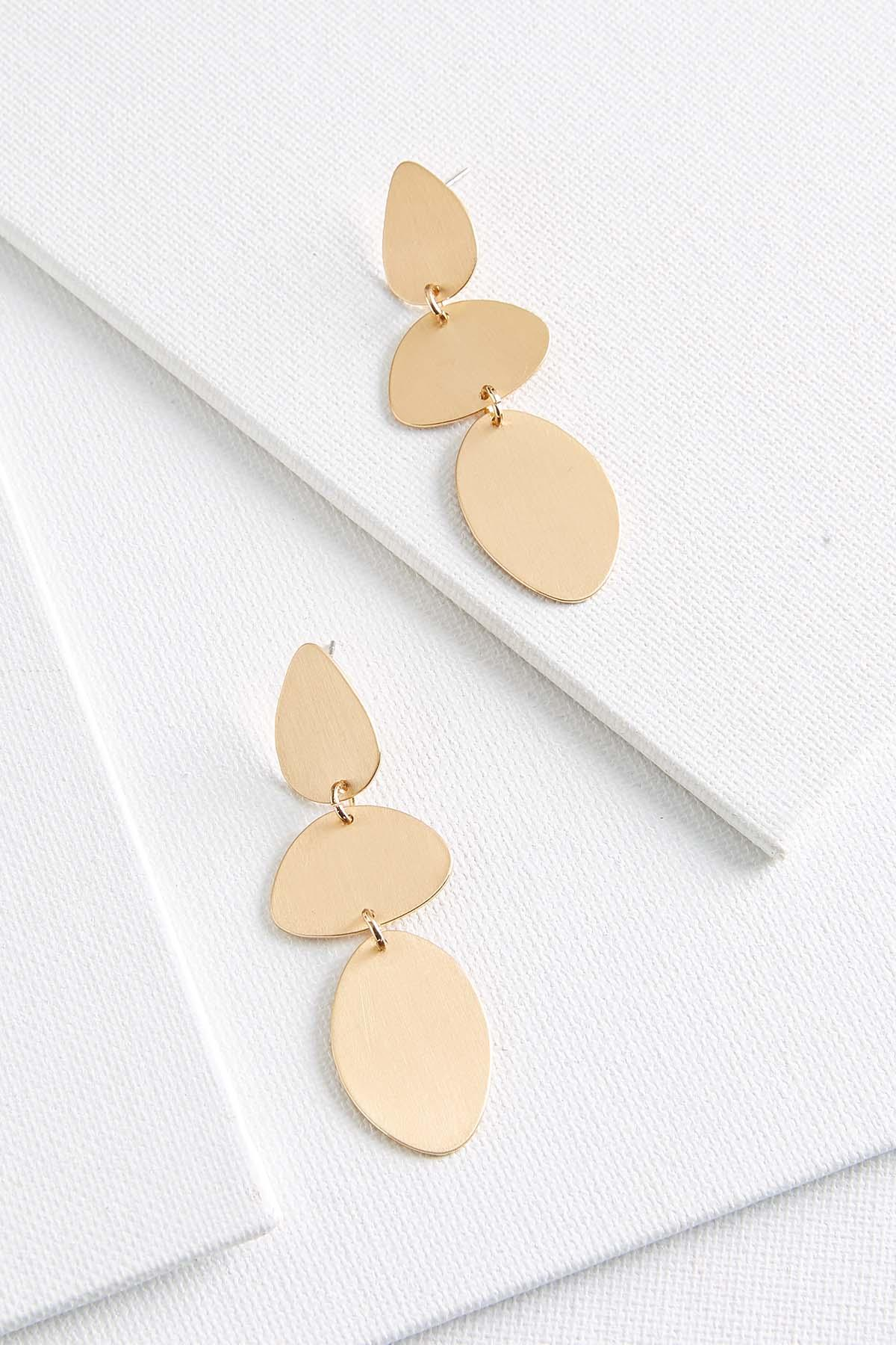 Smooth Metal Petal Earrings