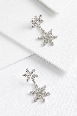 snowflake sparkle earrings