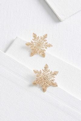 laser cut snowflake earrings