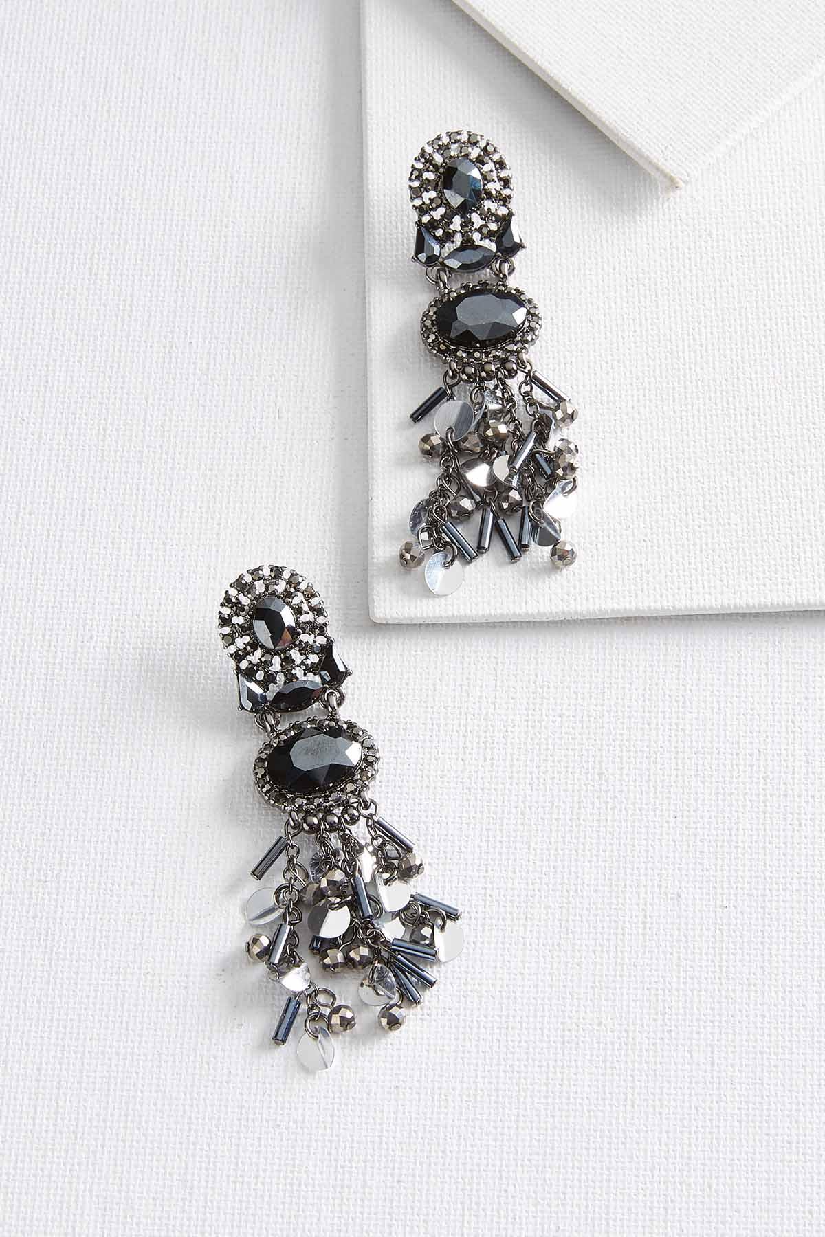 Hematite Shaky Stone Earrings