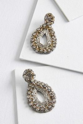 dazzling fabric back earrings