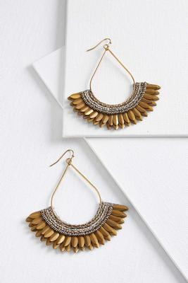 grecian worn gold earrings
