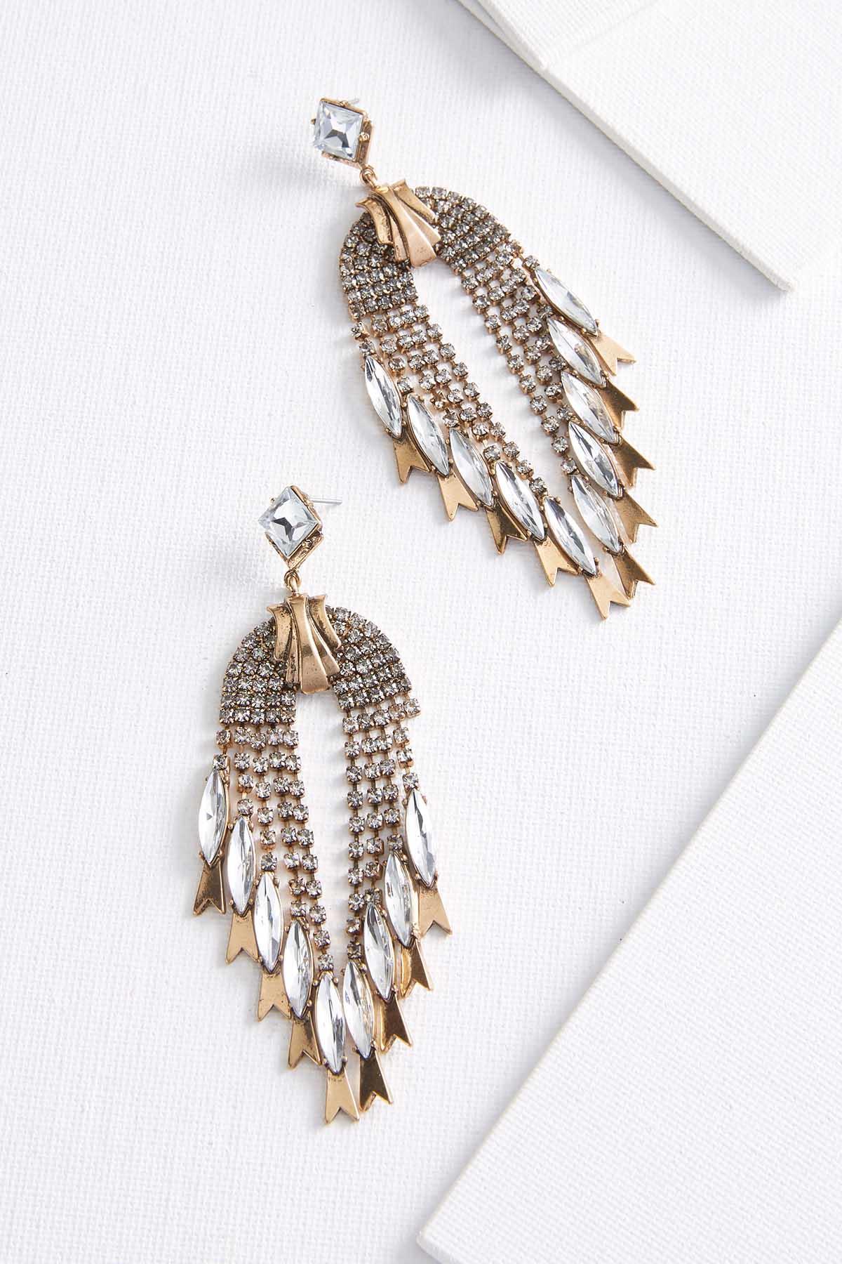 Vintage Shaky Stone Earrings