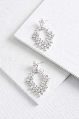 cluster chandelier earrings