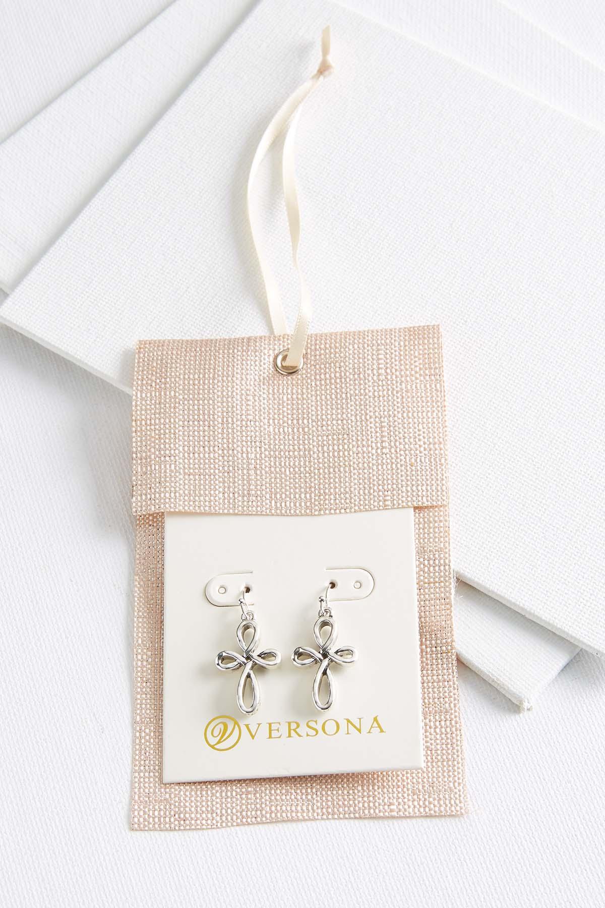 Cross Charm Earrings
